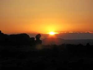 Sonnenuntergang im Arches National Park
