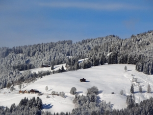 Winter in den Alpen